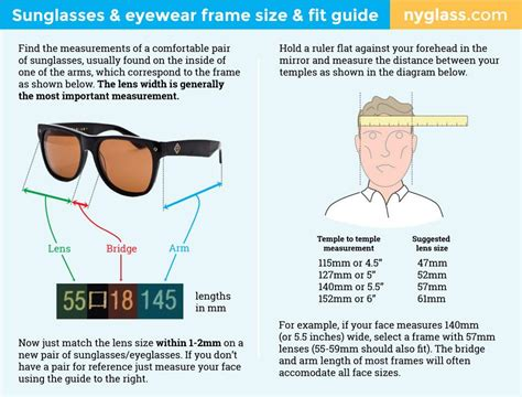 how to choose the right size sunglasses eyewear frame size