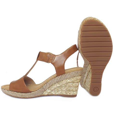 sandals tanning gabor s woven effect wedge sandals in