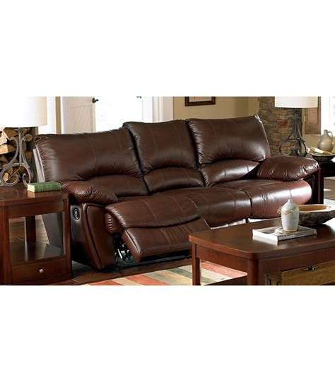 brown leather reclining sofa and loveseat clifford brown leather double reclining sofa and loveseat
