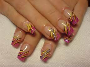 multi colored nail designs