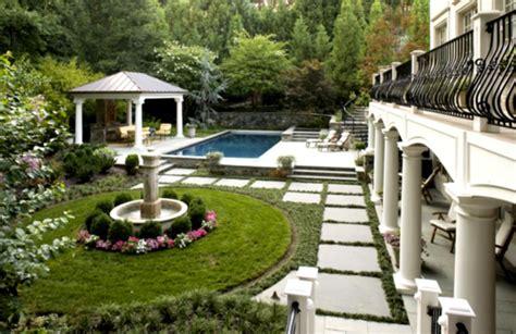 layout of landscape garden french country landscape design dromgak top garden
