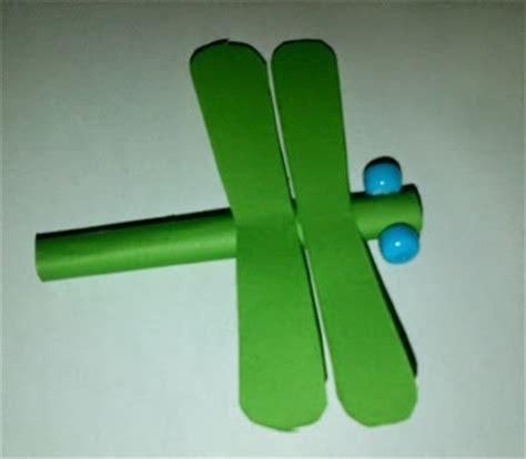 Tongkat E Toll 2 Kartu 2 Sisi Depan Belakang prakarya cara membuat capung kertas