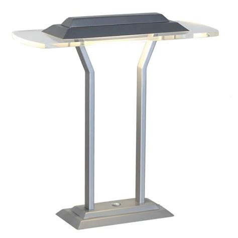 Silver Table Ls Lite Source Slate Silver Clear Led Table L Ls 22479 Destination Lighting