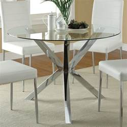 Glass Top Circular Dining Table Dreamfurniture 120760 Glass Top Dining Table