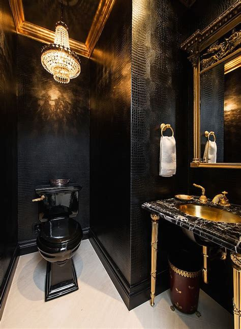 Black And Gold Bathroom Decor » Home Design 2017