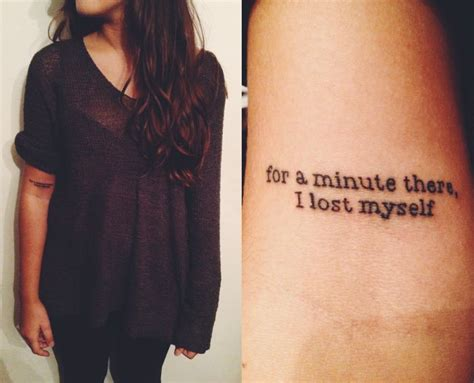 tattoo placement for song lyrics wow and the whole song comes flooding back into my mind
