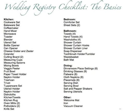 Wedding Registry Checklist Walmart by Wedding Registry Checklist Simple Portray Best 25 Ideas On