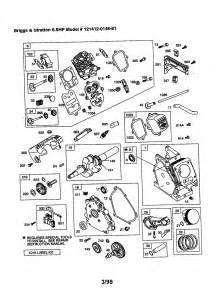 briggs stratton 6 5 hp engine parts model 1214120148e1