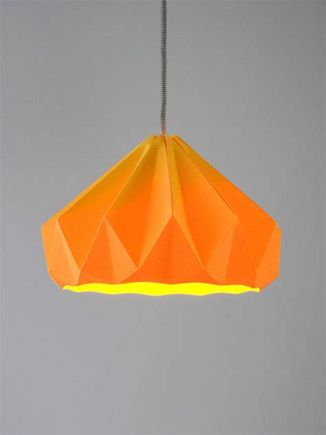 hanging paper l shades chestnut origami hanging paper l shade from nellianna