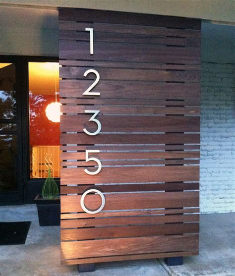 outdoor house numbers modern house numbers customer photo modern exterior phoenix by modern house