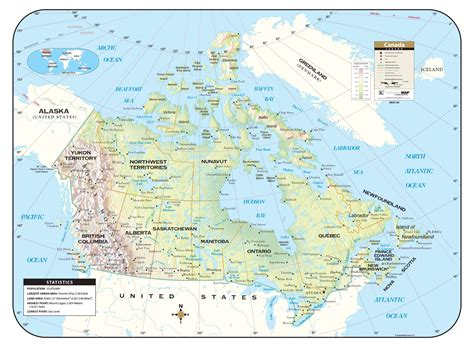 canada shaded relief map kappa map group