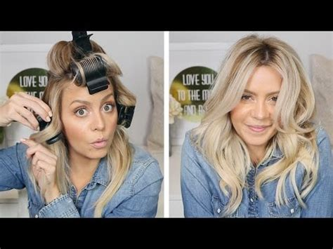 hot curlers to style a graduated bob ellebangs youtube