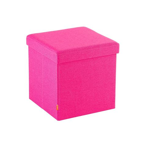 The Box Seat pink poppin mini box seat the container store