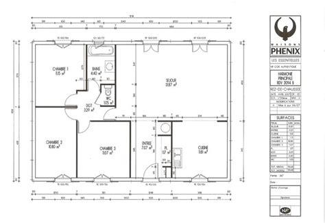 plan pavillon 100m2 attrayant plan maison moderne 100m2 3 plan maison
