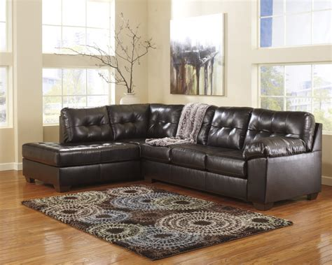 durablend leather sectional alliston durablend chocolate 2 pc laf chaise sectional