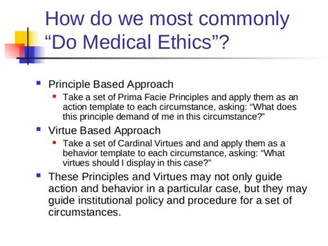 Contemporary Medical Ethics Ethics Consult Template