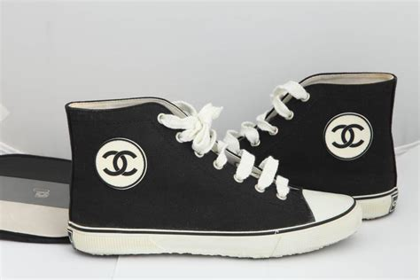 chanel sneakers sale chanel converse style sneakers for sale at 1stdibs