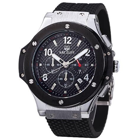 Jam Tangan Quiksilver W392 Silver 1 megir jam tangan analog mn3002gbk black silver jakartanotebook