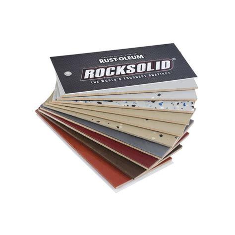 home depot paint fan deck rust oleum rocksolid 10 color fan deck color sle