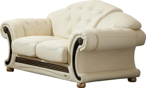 versace couch versace leather sofa versace beige sofa esf furniture