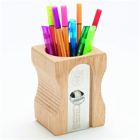 Buy Wooden Giant Pencil Sharpener Desk Tidy Tts Desk Tidy