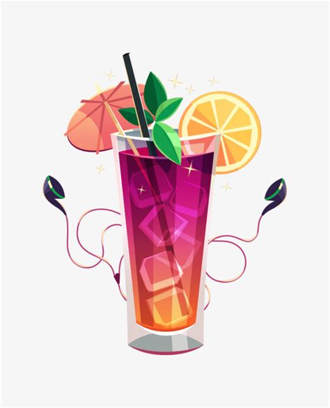 cocktail vector cocktails vector material cocktail vector purple png