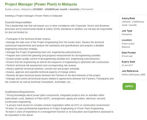 design engineer job vacancy selangor oil gas vacancies project manager power plant spencer