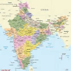 map of including cities india