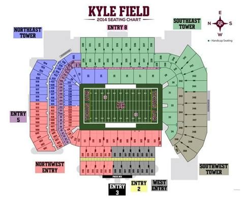 kyle field visitor section kyle field seating chart theeagle com