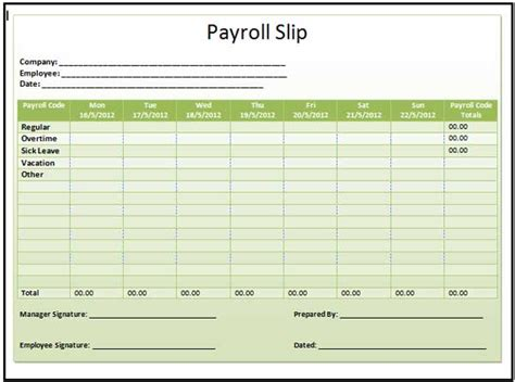 Payroll Payslip Template search results for employee payslip template free