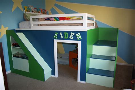 ana white   build queen size playhouse loft bed