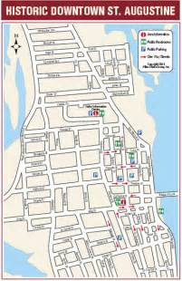 st augustine florida attractions map downtown st augustine florida map st augustine fl mappery