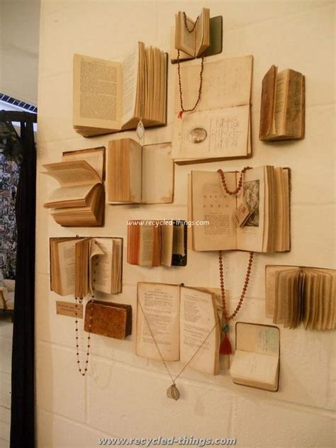 vintage things for bedrooms diy projects made with old books recycled things