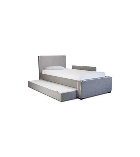 monte design bed trundle in bonded leather black