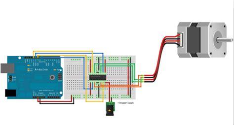 code arduino stepper stepper motor interfacing arduino tutorial circuit