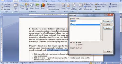 tutorial word cara membuat bookmark di microsoft word tutorial ms word