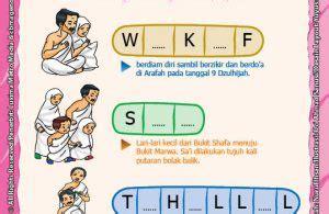 Buku Muslims Seri Haji Qurban lembar aktivitas paud tk melengkapi nama ibadah manasik ibadah haji ebook anak