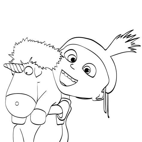 agnes unicorn coloring page despicable me 3 coloring pages getcoloringpages com