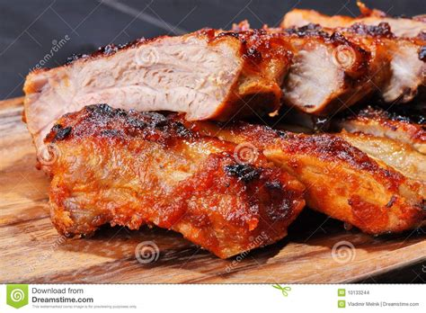 grilled pork ribs stock images image 10133244