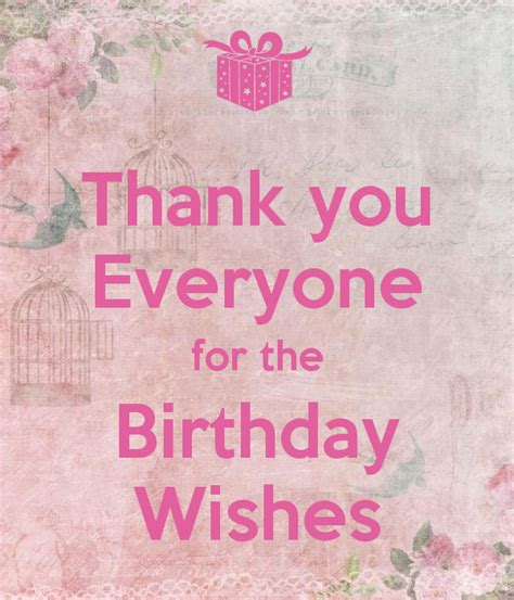 wishes for everyone thank you for your birthday wishes everyone www imgkid