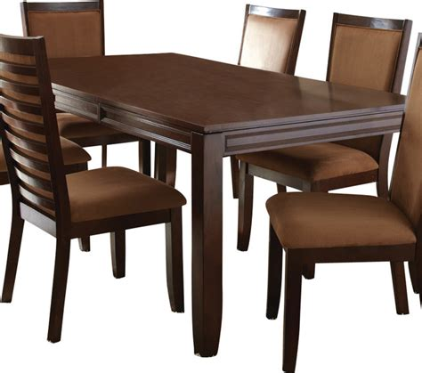 steve silver dining table steve silver cornell rectangular dining table in rich