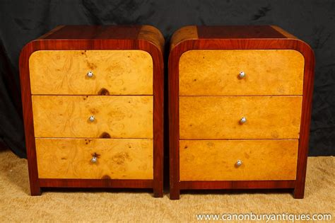 art deco bedroom furniture pair art deco nighstands bedside chests chest drawers