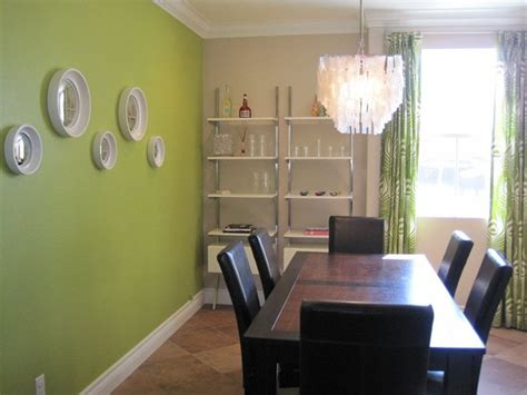 Dining Room With Green Accent Wall Modern Dining Room With Capiz Shell Chandelier And Bright
