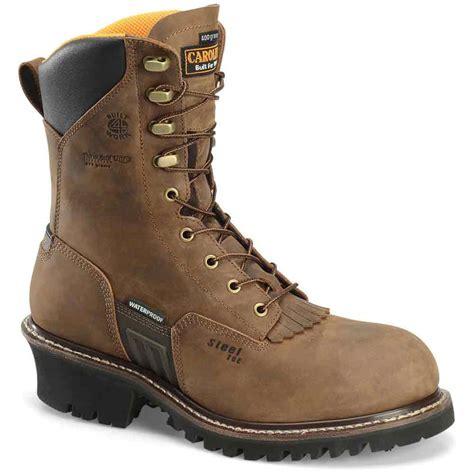 carolina boots carolina max wp insulated steel toe logger boot ca6580