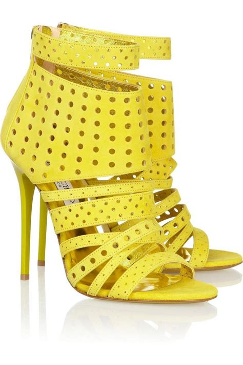 Yellow Black Jelly Flat Shoes 38 discount jimmy choo jelly sandals