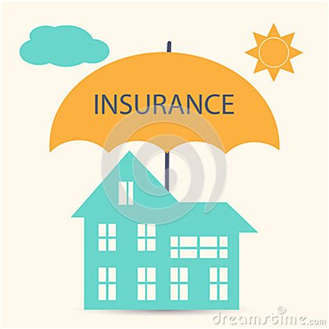 no house insurance house insurance stock vector image 57763219