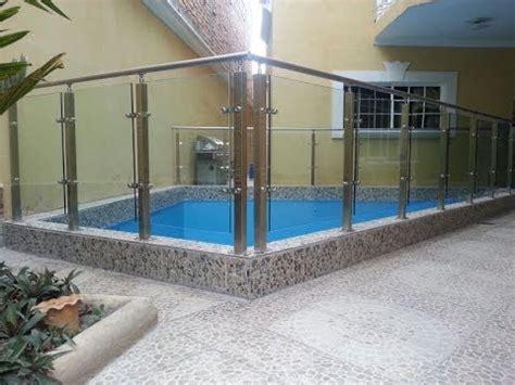 barandilla piscina aluminio pasamanos con postes de acero inoxidable en piscina youtube