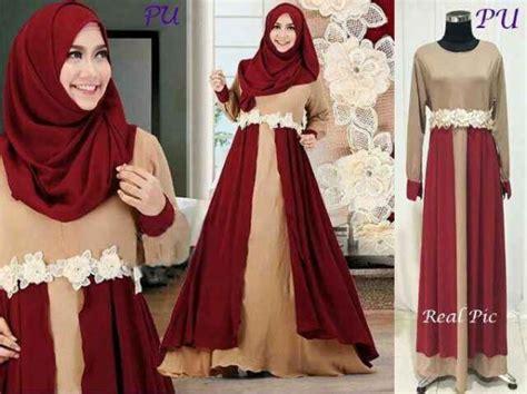 Gamis Longdress Terusan Panjang Muslim Fazzel Set gamis modern b066 indiy layers baju muslim model terbaru