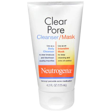 clear pore neutrogena clear pore cleanser mask 4 2 fl oz 125 ml