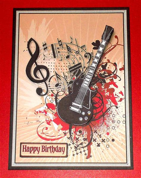 printable birthday cards with guitars handmade greeting card 3d all occasion with a guitar ebay